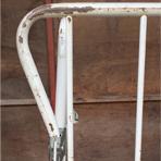 カゴ台車のフレーム歪みと溶接はずれの修理